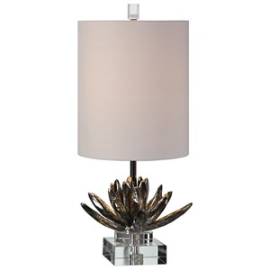 Silver Lotus Accent Lamp