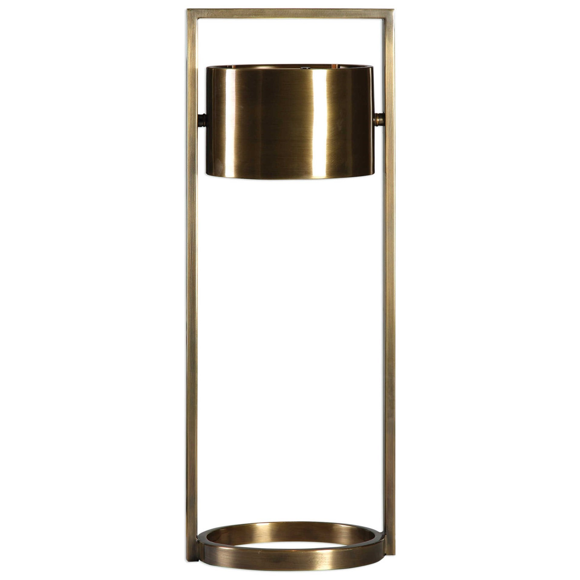 Accent Lamps Ilario Suspended Drum Shade Lamp by Uttermost at Mueller Furniture