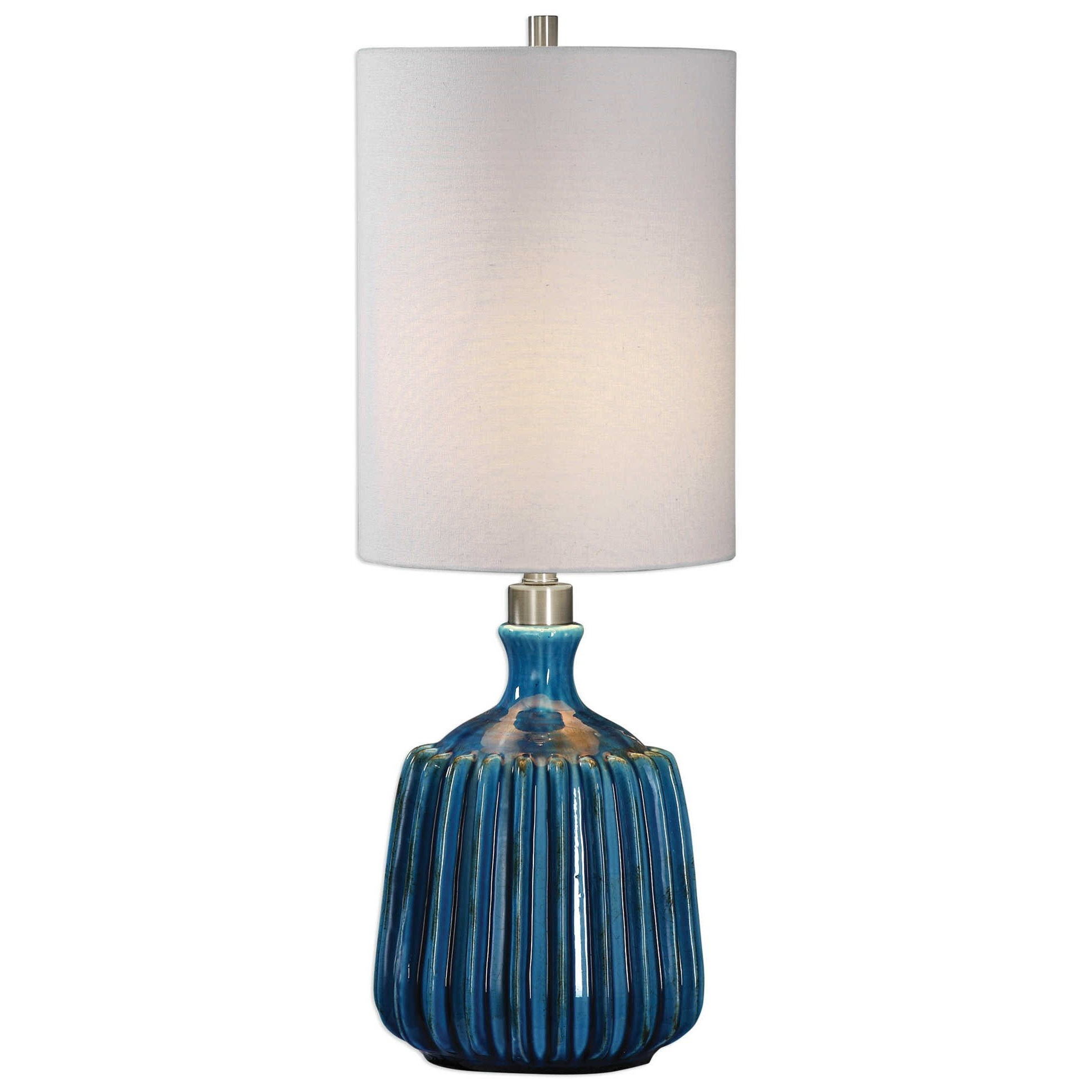 Accent Lamps Amaris Blue Ceramic Lamp by Uttermost at Mueller Furniture