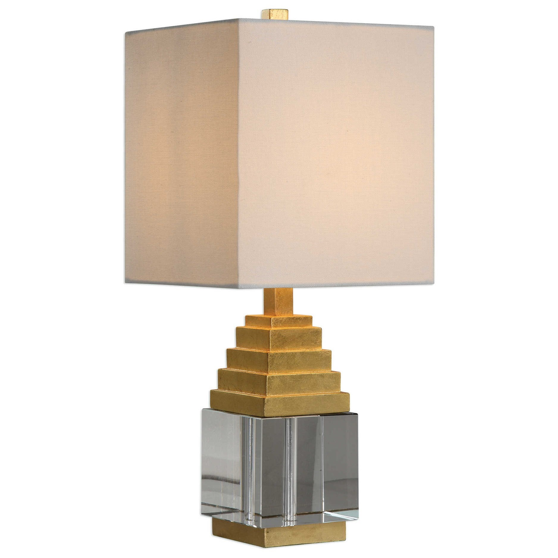 Accent Lamps Anubis Crystal Cube Lamp by Uttermost at Upper Room Home Furnishings