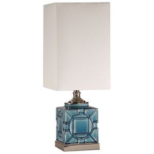 Pacorro Crackled Blue Lamp