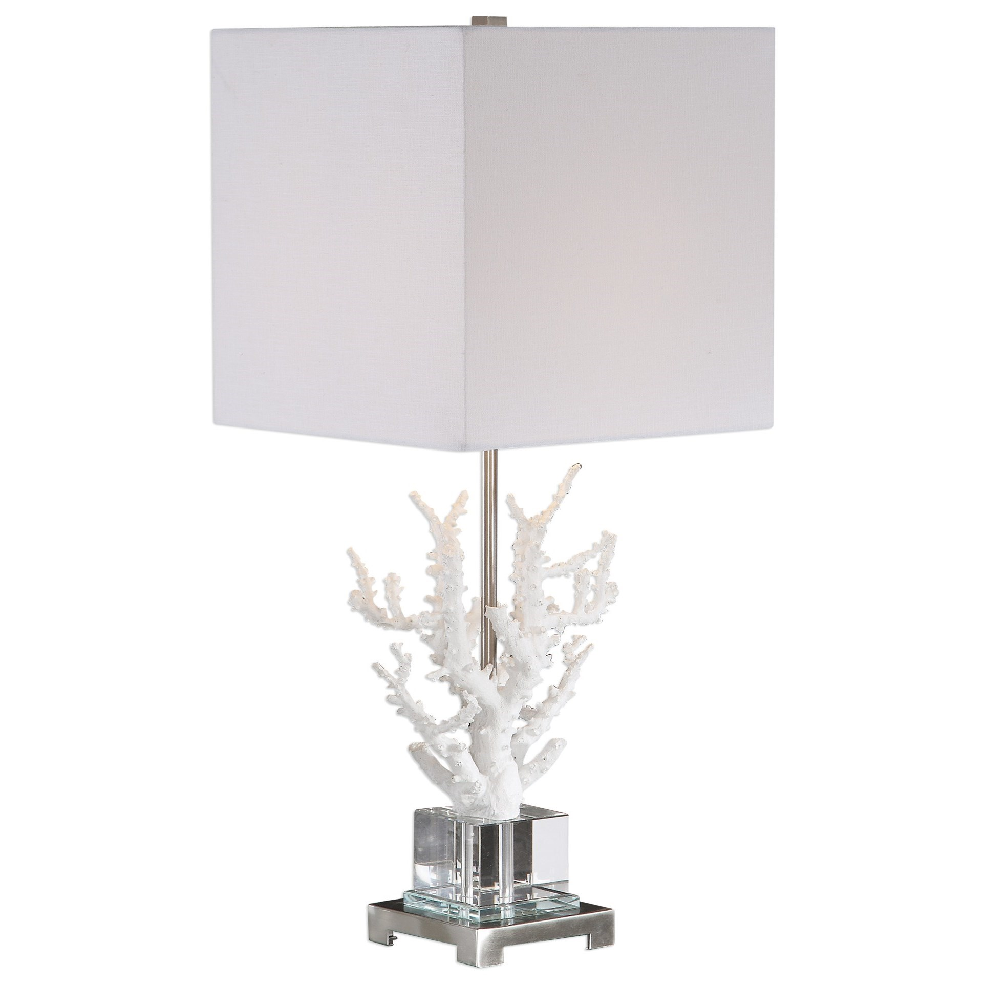 Table Lamps Corallo White Coral Table Lamp by Uttermost at Suburban Furniture