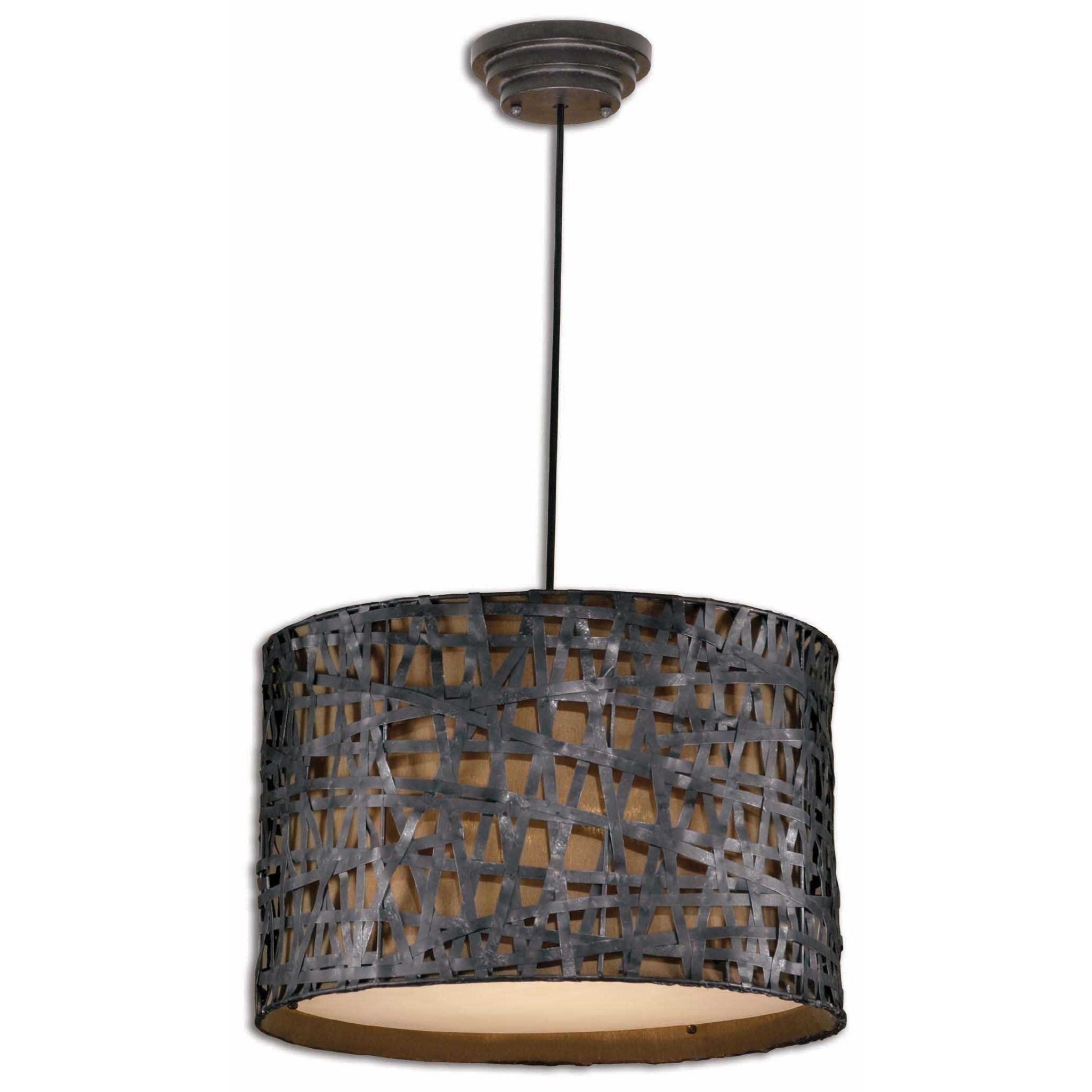 Lighting Fixtures - Pendant Lights Alita 3 Light Metal Pendant by Uttermost at Mueller Furniture