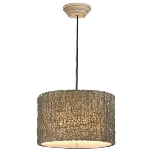 Knotted Rattan 3 Light Hanging Shade