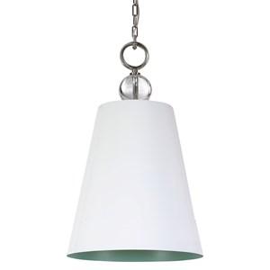 Delray White 1 Light Pendant