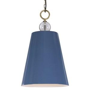 Delray Blue 1 Light Pendant