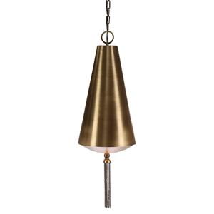 Nador 1 Light Brass Pendant