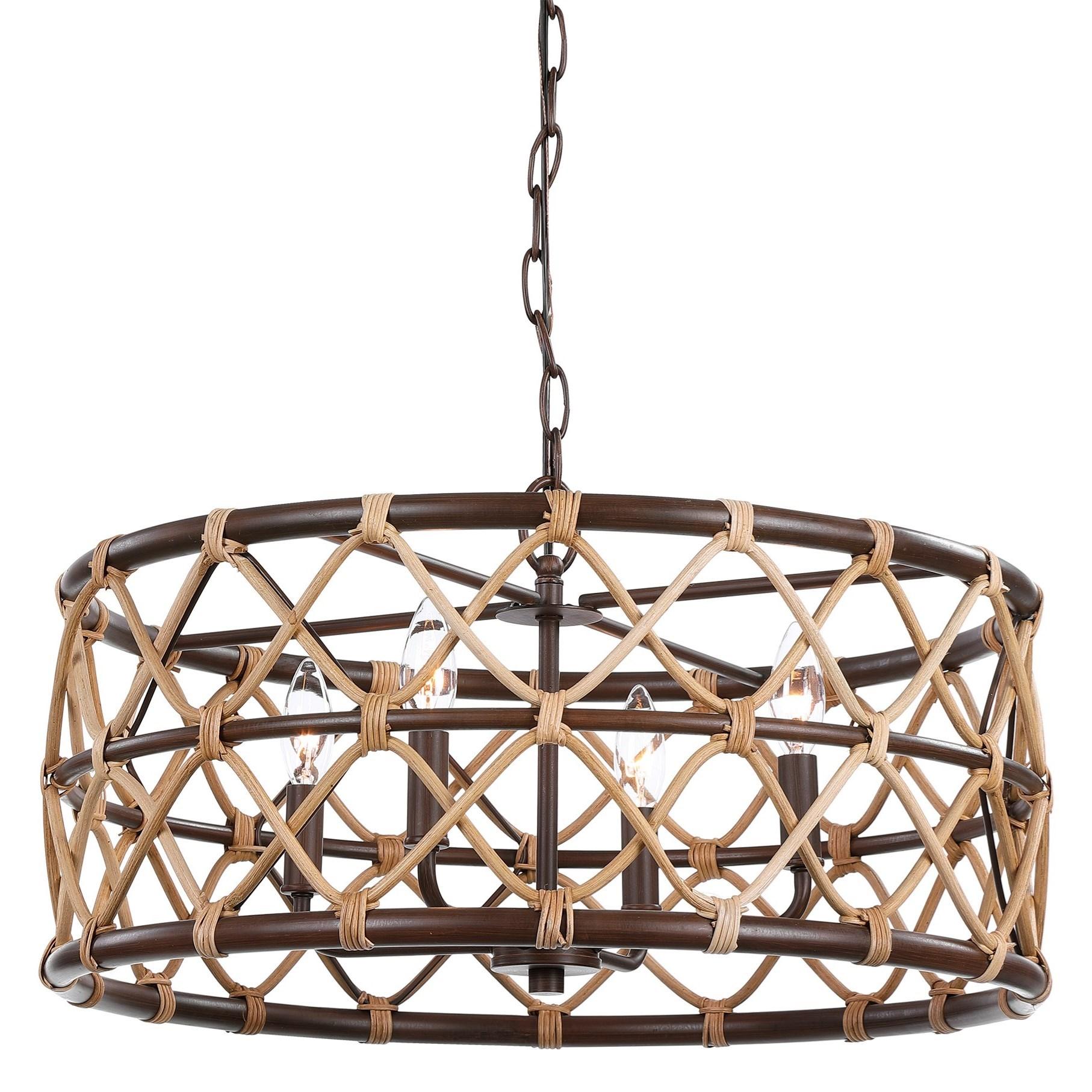 Lighting Fixtures - Pendant Lights Hilo 4 Light Drum Pendant by Uttermost at Upper Room Home Furnishings
