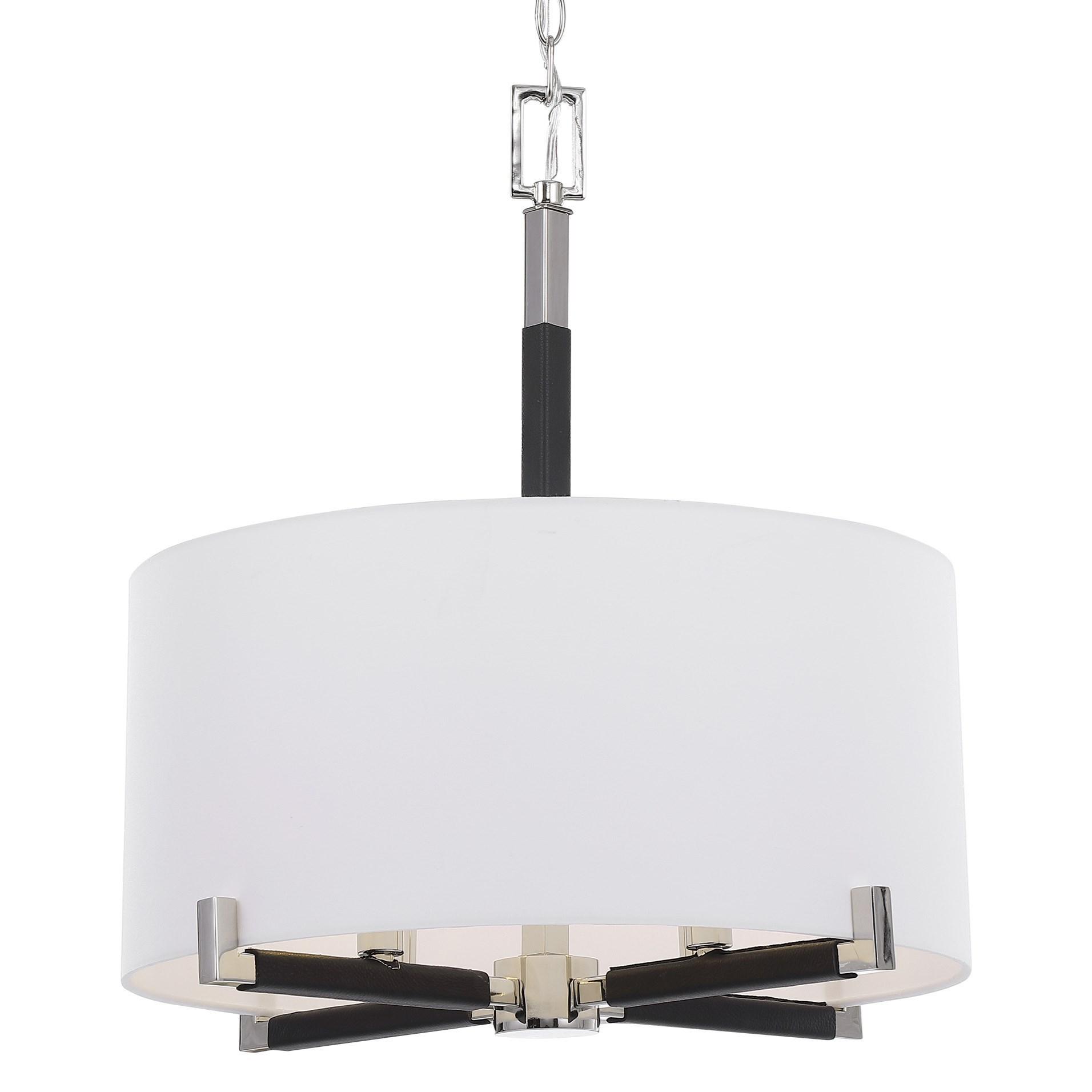 Lighting Fixtures - Pendant Lights Newburgh 4 Light Drum Pendant by Uttermost at Mueller Furniture