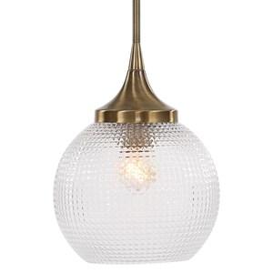 Bolla 1 Light Pattern Glass Mini Pendant