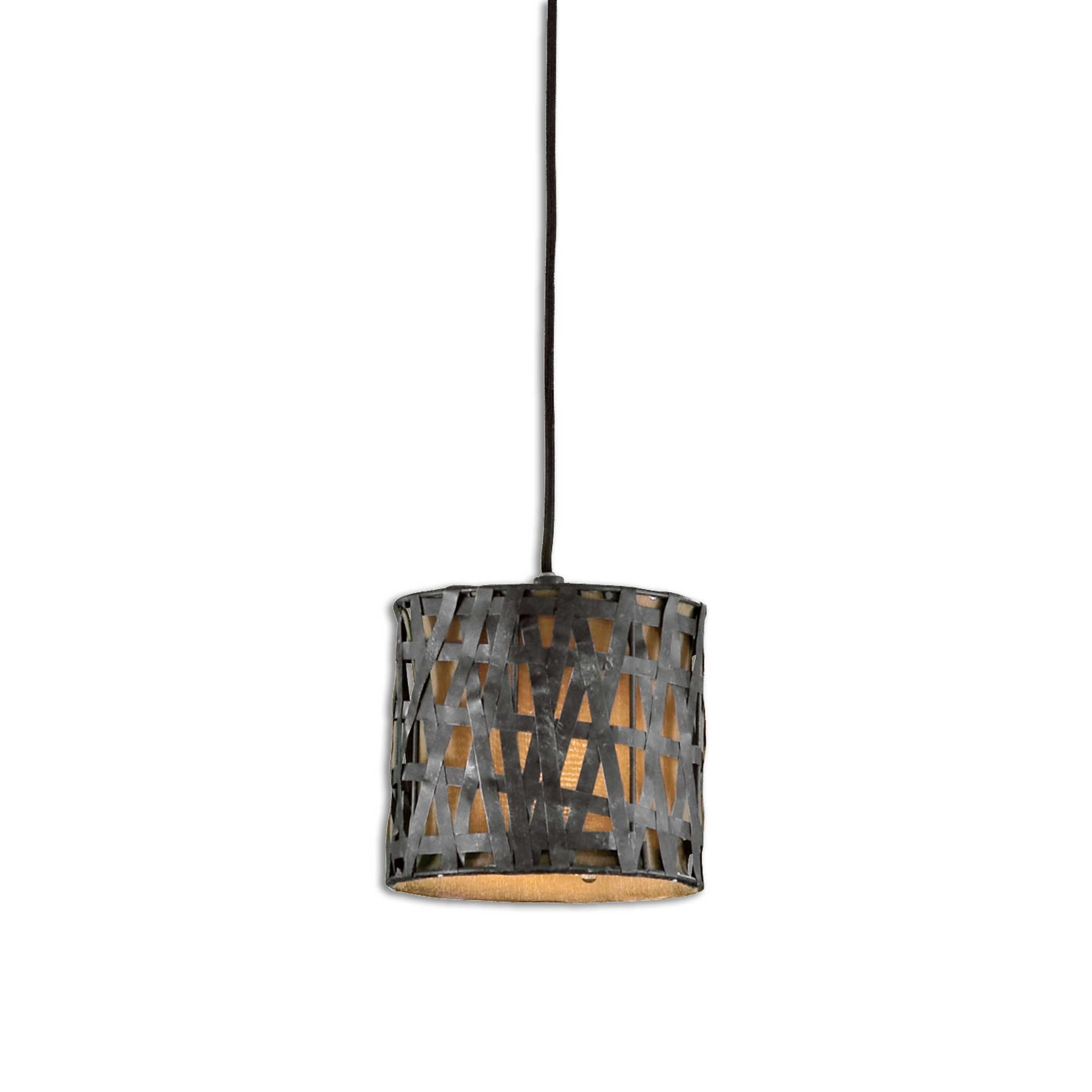 Lighting Fixtures - Pendant Lights Alita Mini Metal Hanging Shade by Uttermost at Mueller Furniture