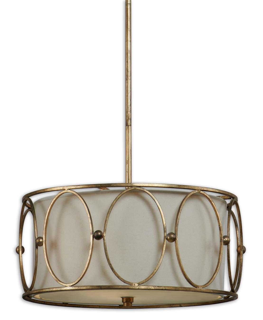 Lighting Fixtures - Pendant Lights Ovala 3 Light Pendant by Uttermost at Mueller Furniture