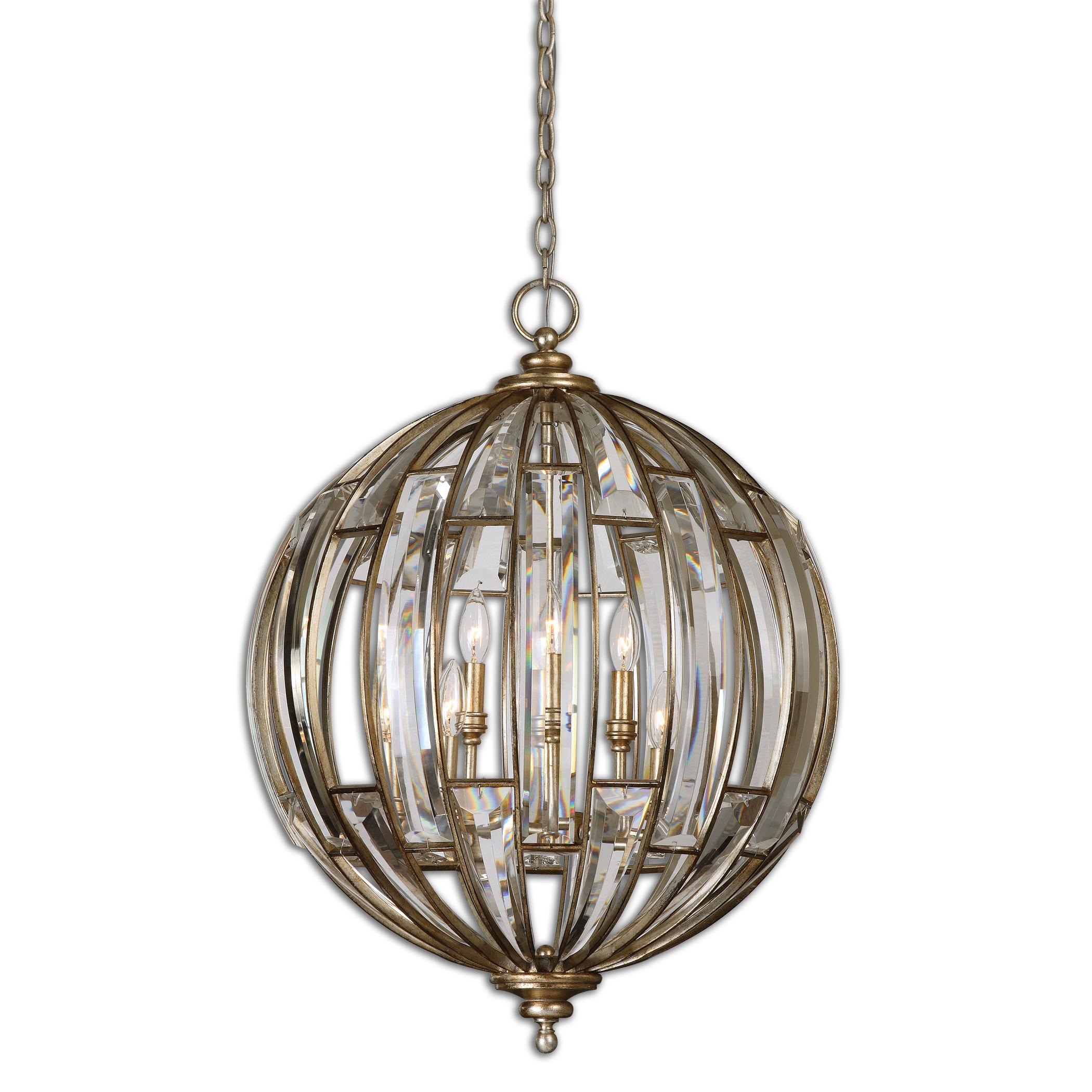 Lighting Fixtures - Pendant Lights Uttermost Vicentina 6 Light Sphere Pendant by Uttermost at Miller Waldrop Furniture and Decor