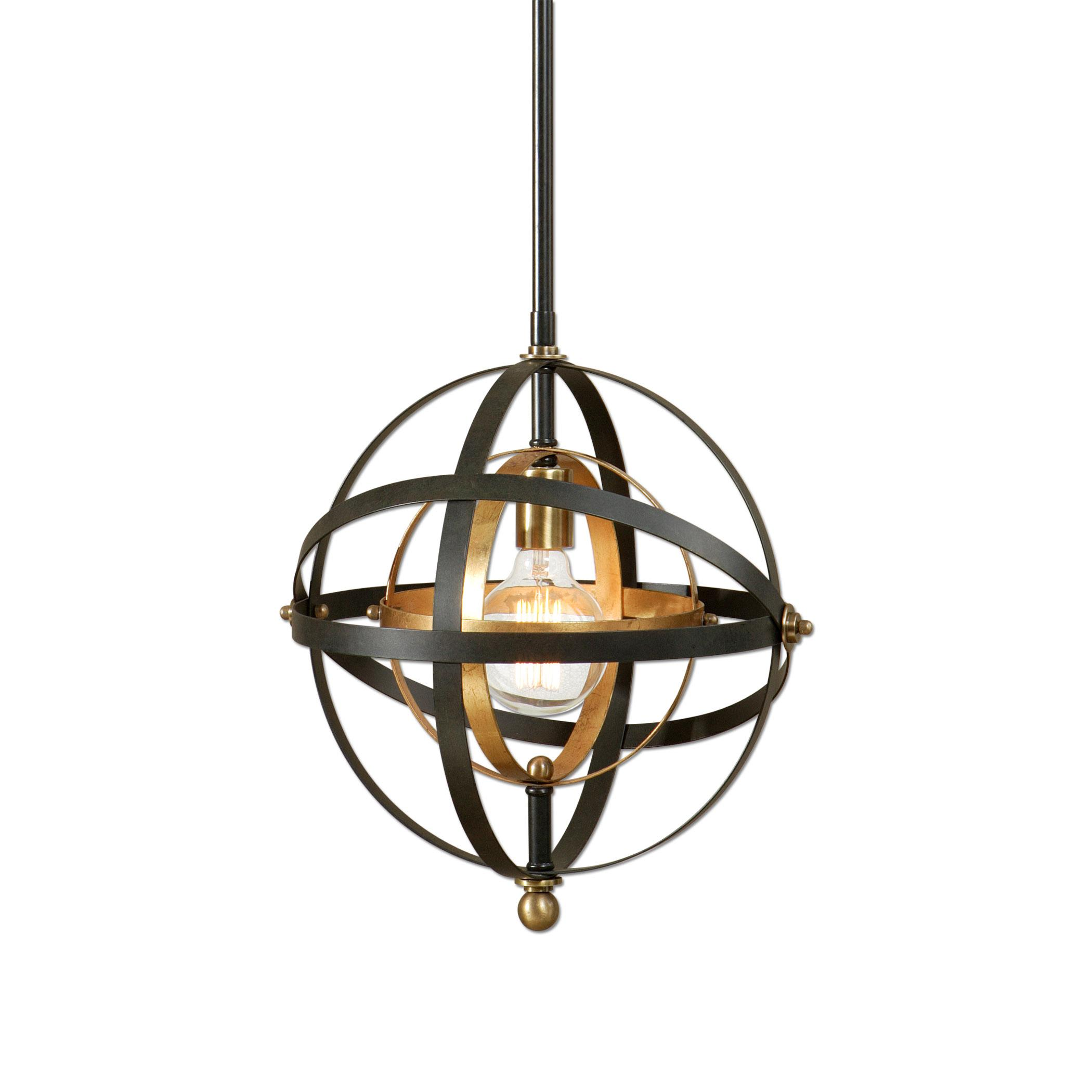 Lighting Fixtures - Pendant Lights Rondure 1 Light Sphere Mini Pendant by Uttermost at Suburban Furniture