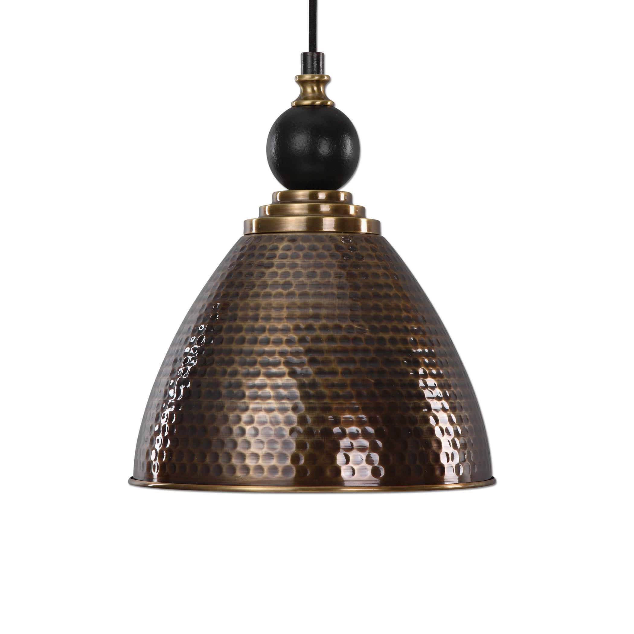 Lighting Fixtures - Pendant Lights Adastra 1 Light Antique Brass Pendant by Uttermost at Lucas Furniture & Mattress