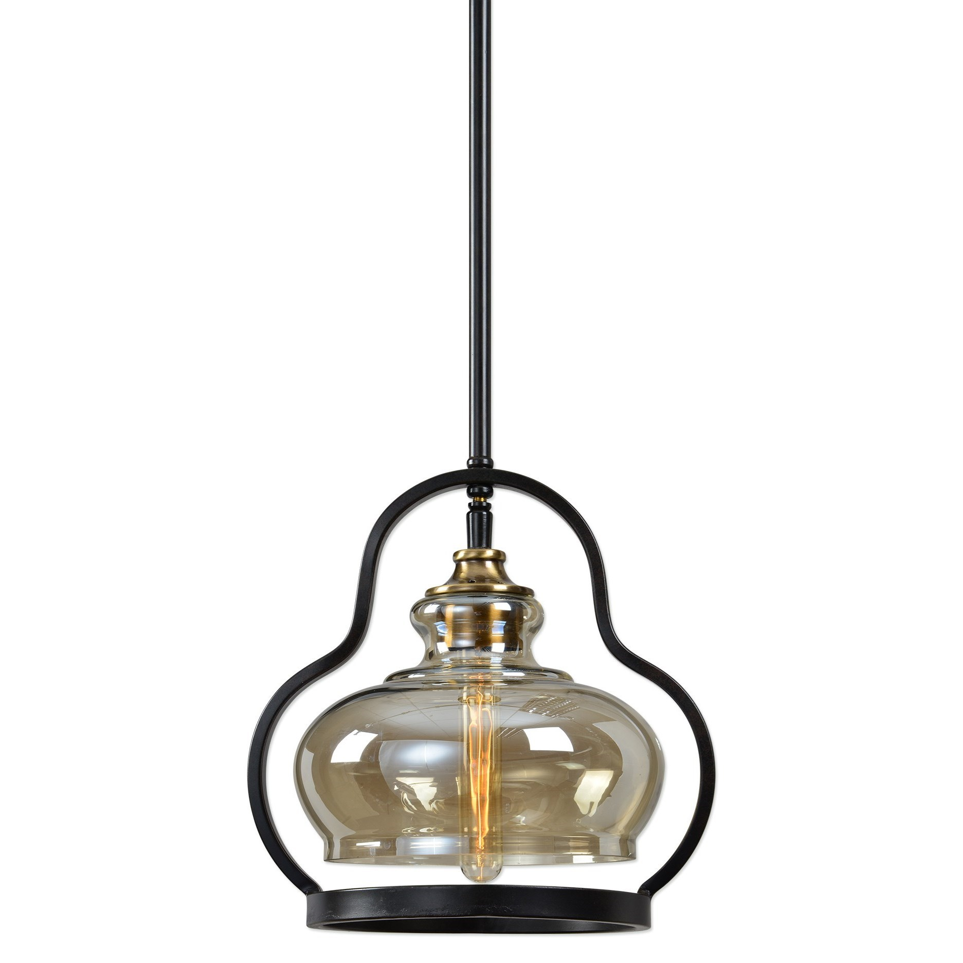 Lighting Fixtures - Pendant Lights  Cotulla 1 Lt. Mini Pendant by Uttermost at Mueller Furniture