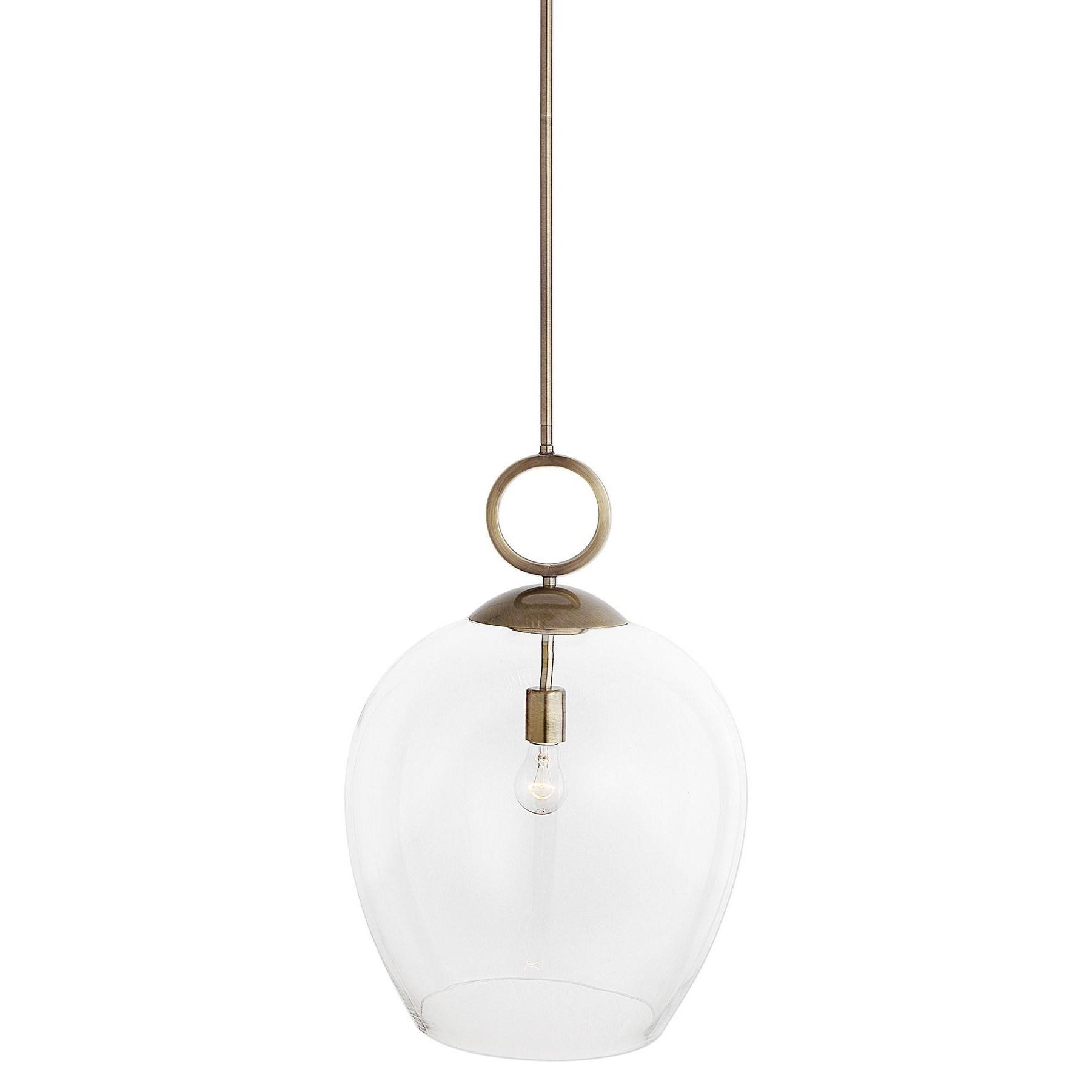 Lighting Fixtures - Pendant Lights Calix Large Blown Glass 1 Light Pendant by Uttermost at Suburban Furniture