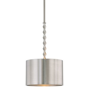 Tori 1 Light Brushed Nickel Drum Pendant