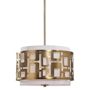 Vecta 3 Light Brass Pendant