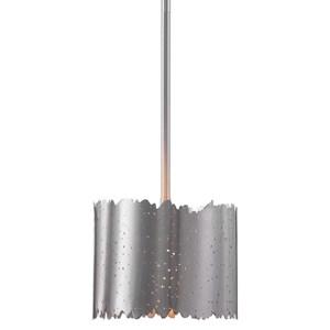 Baradla 1 Light Brushed Nickel Mini Pendant