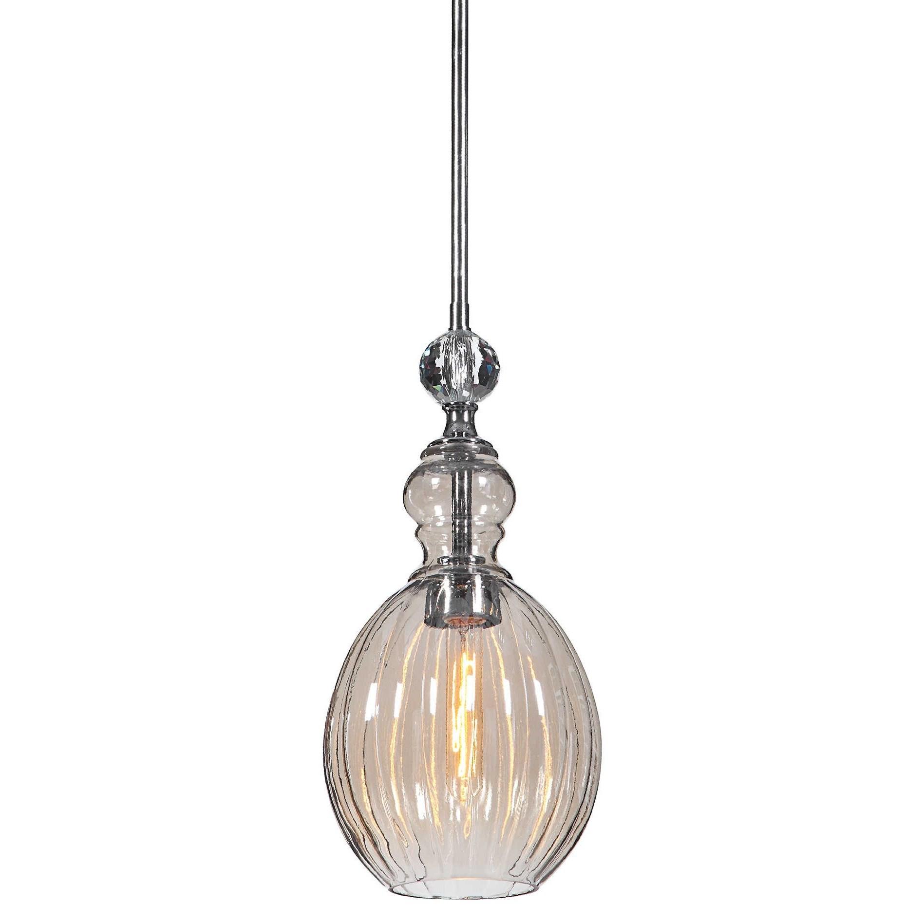Lighting Fixtures - Pendant Lights GiGi 1 Light Glass Mini Pendant by Uttermost at Mueller Furniture