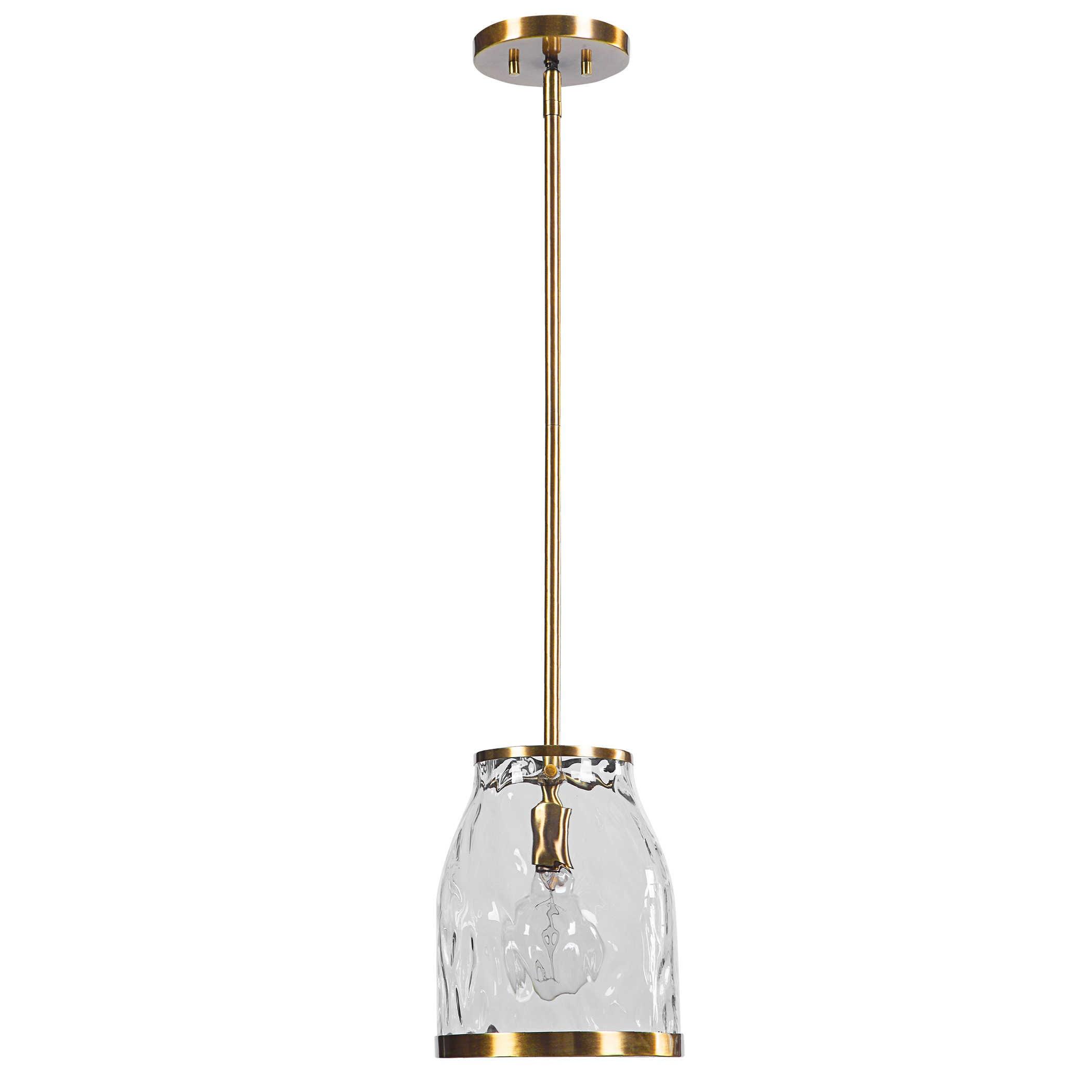 Lighting Fixtures - Pendant Lights Crossley 1 Light Glass Mini Pendant by Uttermost at Suburban Furniture