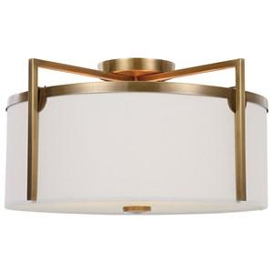 Colfax Brass 3 Light Semi Flush