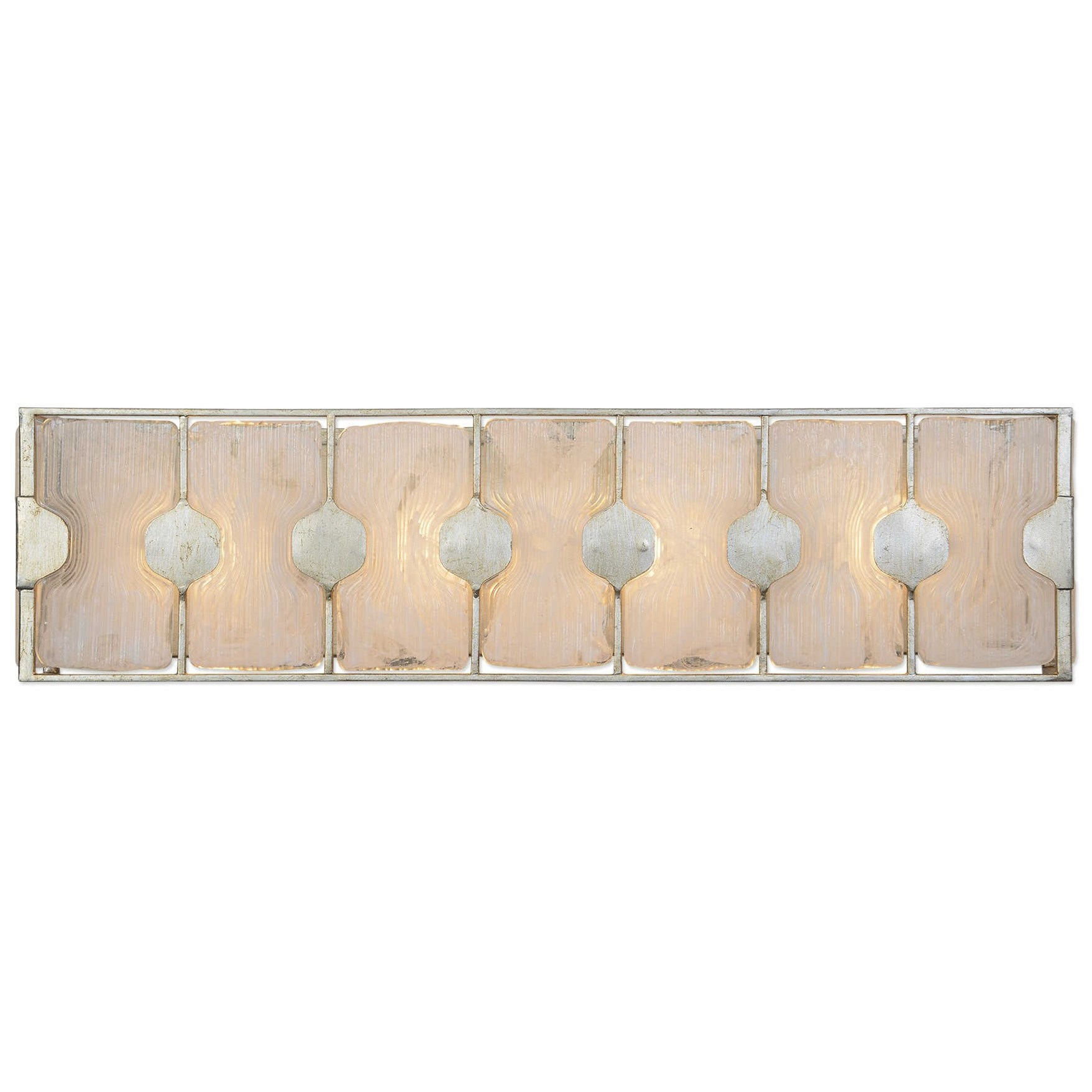 Lighting Fixtures - Wall Sconces Rene 4 Light Swirl Glass Vanity by Uttermost at Mueller Furniture