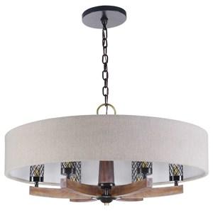 Woodall 6 Light Drum Chandelier