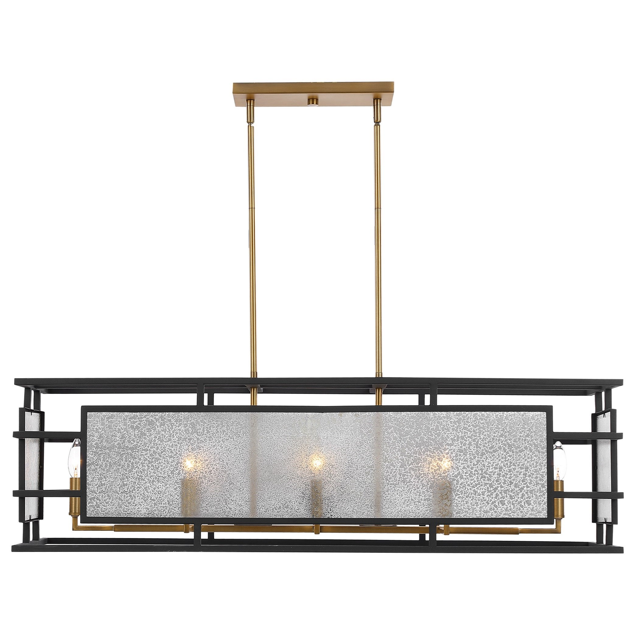 Lighting Fixtures - Chandeliers Holmes 8 Light Linear Chandelier by Uttermost at Hudson's Furniture