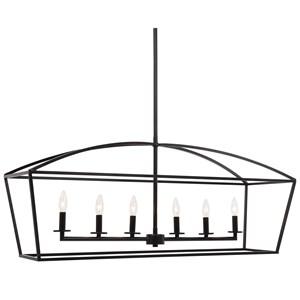 Clayton 6 Light Linear Chandelier
