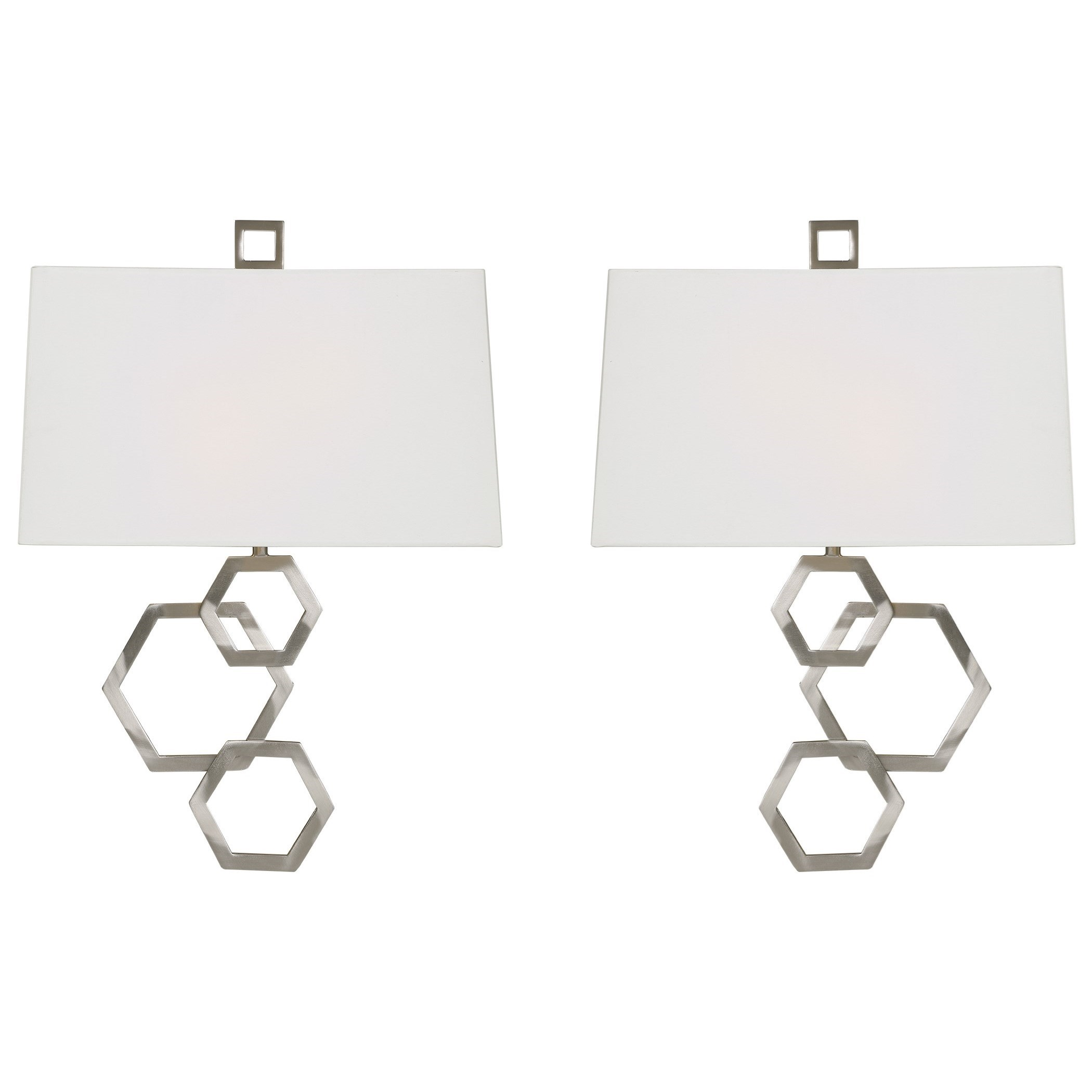 Lighting Fixtures - Wall Sconces Deseret Nickel 2 Light Sconce Set of 2 by Uttermost at Mueller Furniture