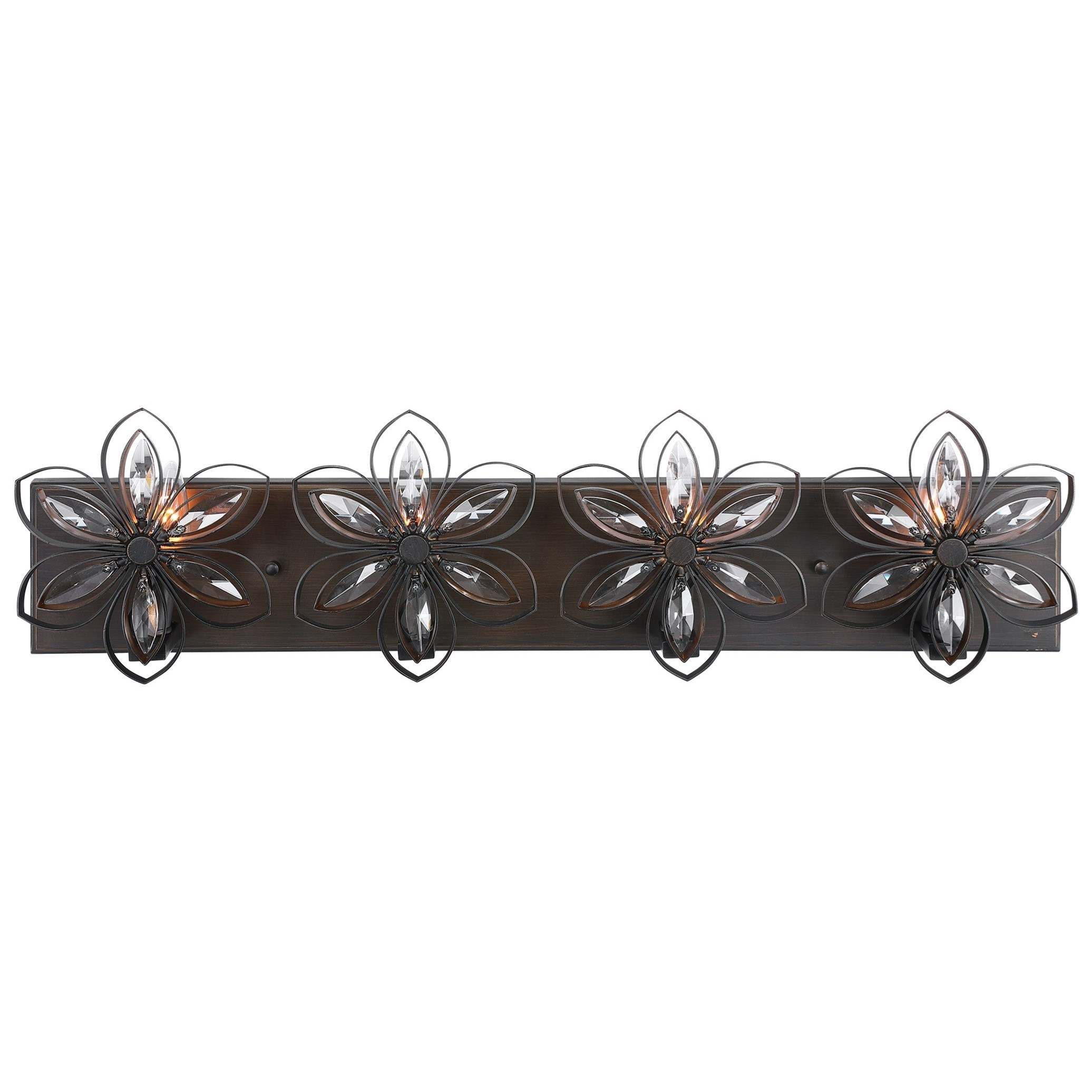 Lighting Fixtures - Wall Sconces Posey 4 Light Vanity Light by Uttermost at Mueller Furniture