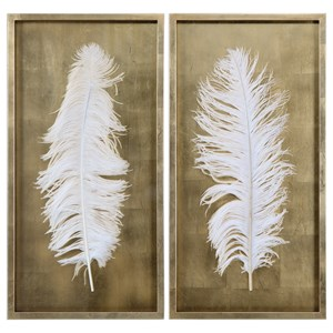 White Feathers (Set of 2)