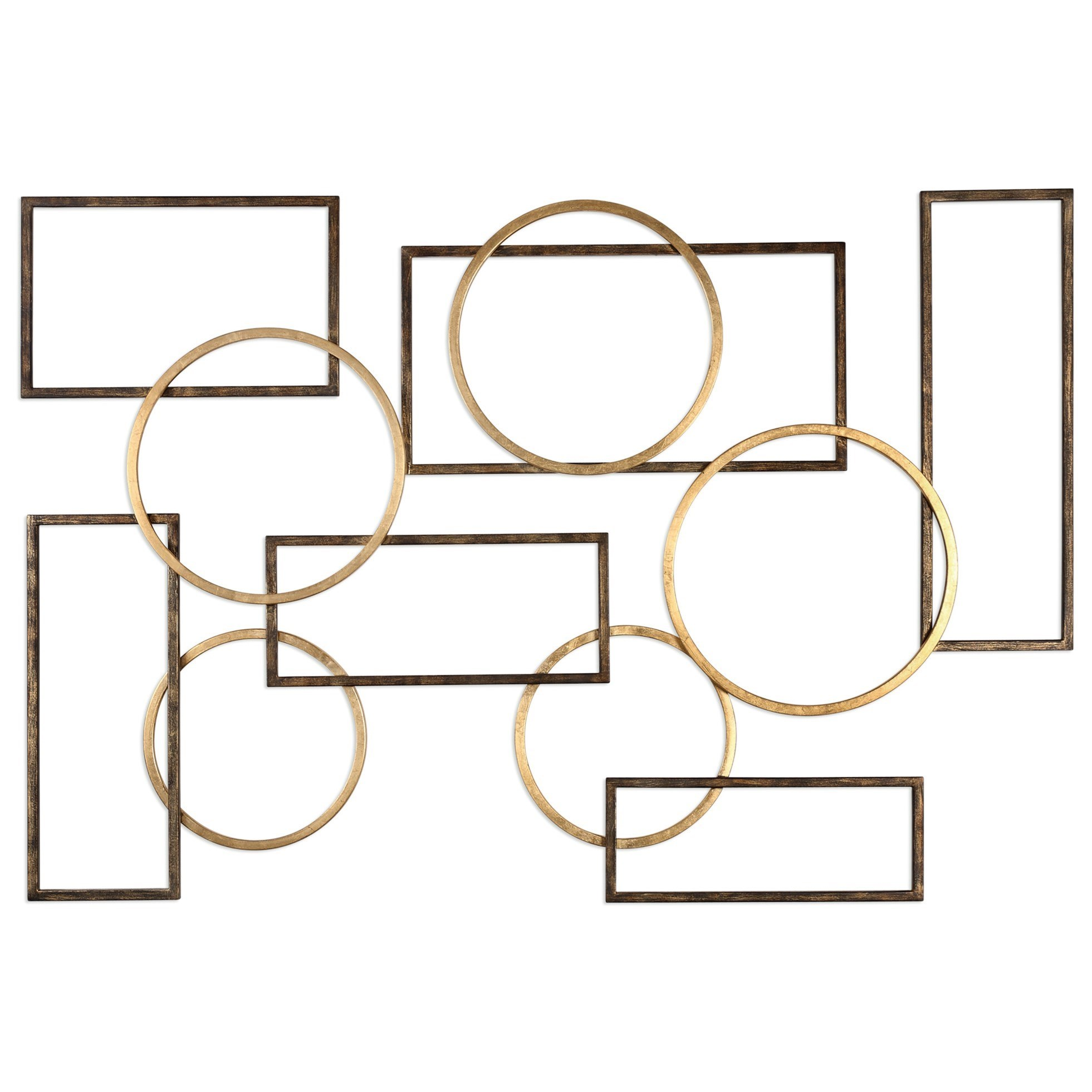 Alternative Wall Decor  Elias Bronze And Gold Wall Art by Uttermost at Suburban Furniture