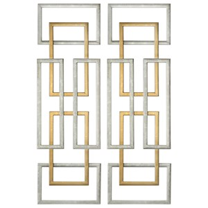 Aerin Geometric Wall Art, S/2