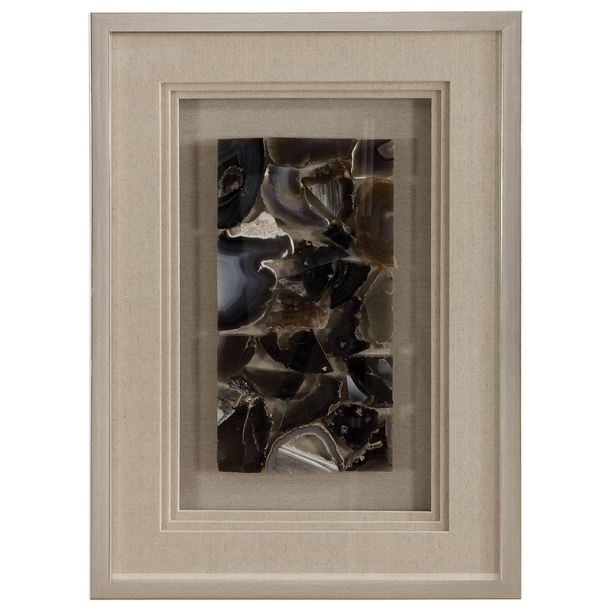 Alternative Wall Decor Seana Agate Stone Shadow Box by Uttermost at Dunk & Bright Furniture