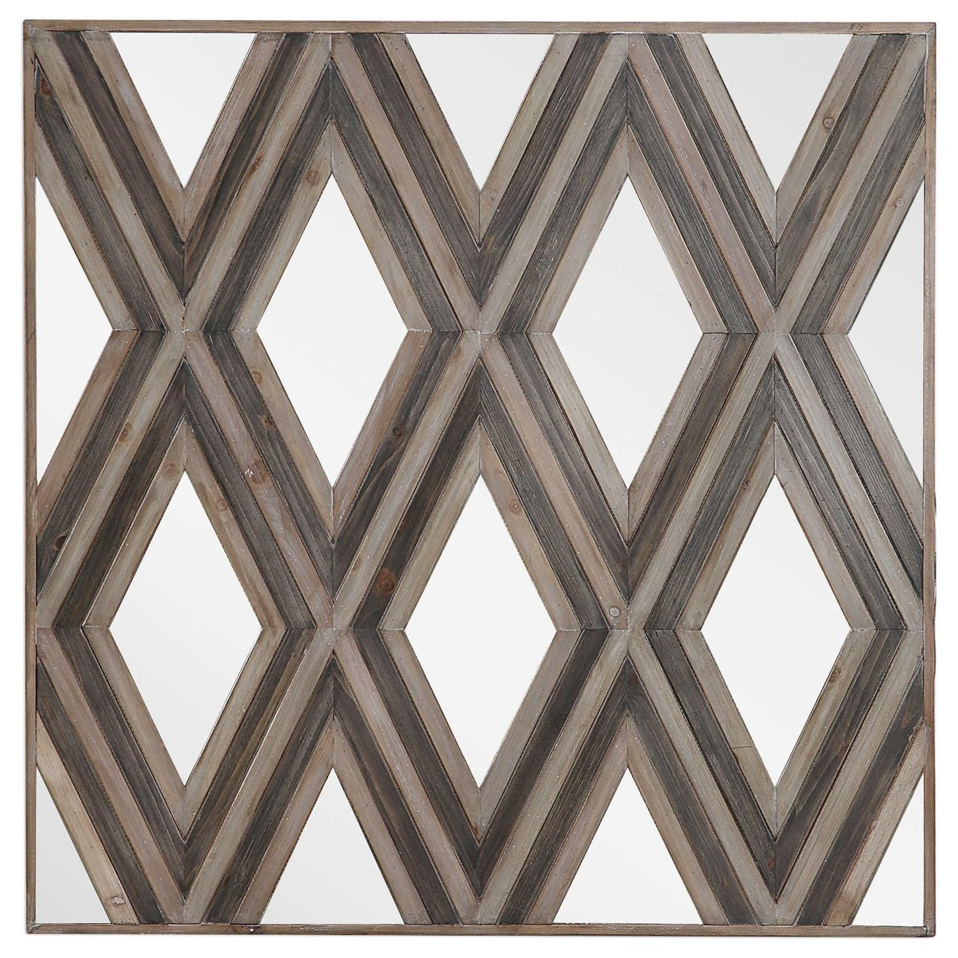 Alternative Wall Decor Tahira Geometric Square Wall Mirror by Uttermost at Miller Waldrop Furniture and Decor