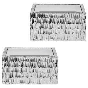 Jessamine Silver Wall Shelves, S/2