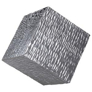 Jessamine Silver Wall Cube