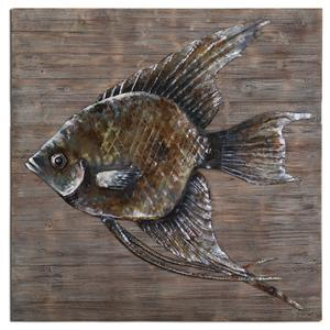 Uttermost Alternative Wall Decor Iron Fish Wall Art