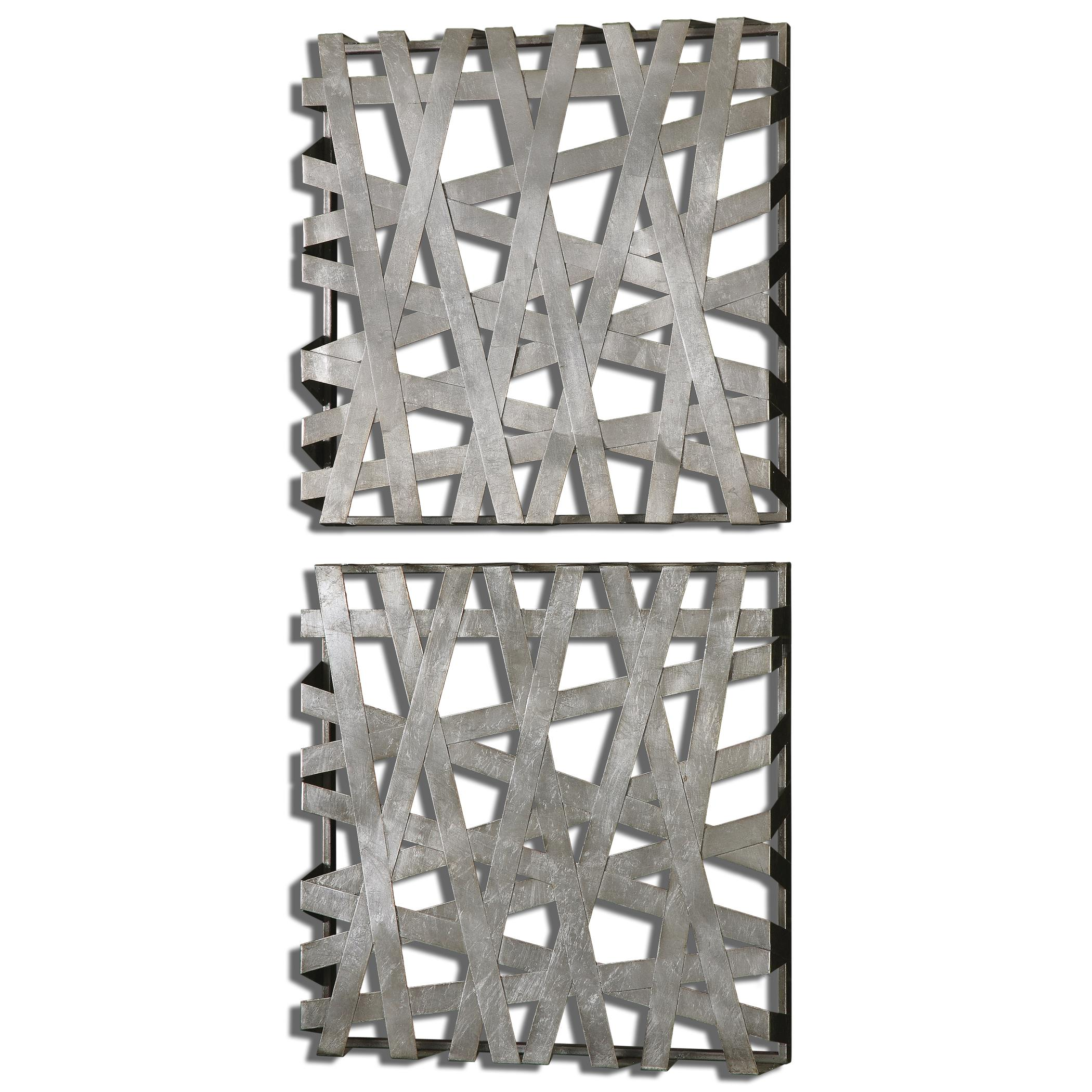 Alternative Wall Decor Alita Squares Wall Art, Set of  2  by Uttermost at Mueller Furniture