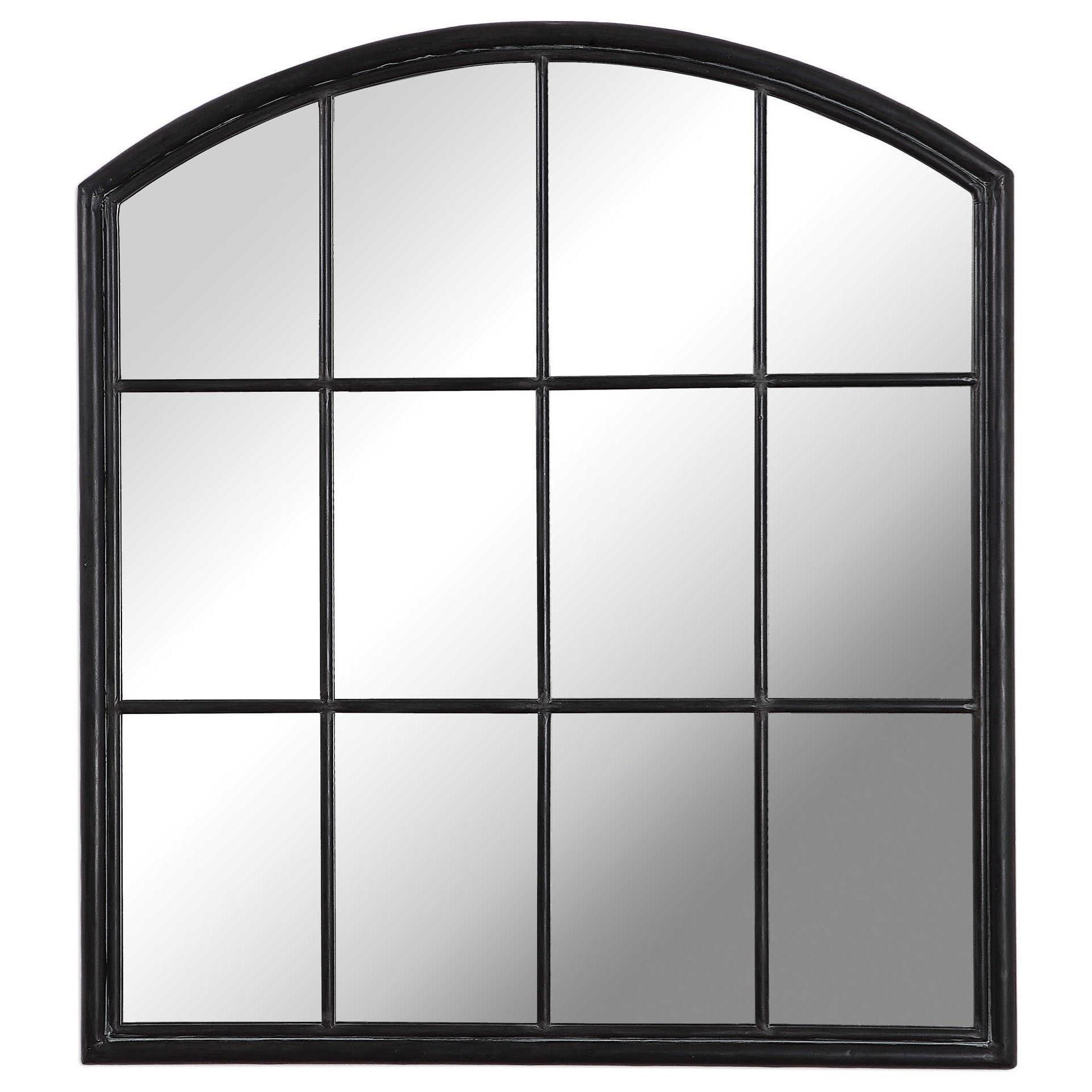 Arched Mirrors Lyda Aged Black Arch Mirror by Uttermost at Miller Waldrop Furniture and Decor