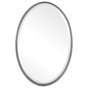 Reva Silver Oval Mirror