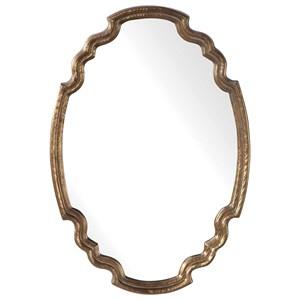 Ariane Gold Oval Mirror