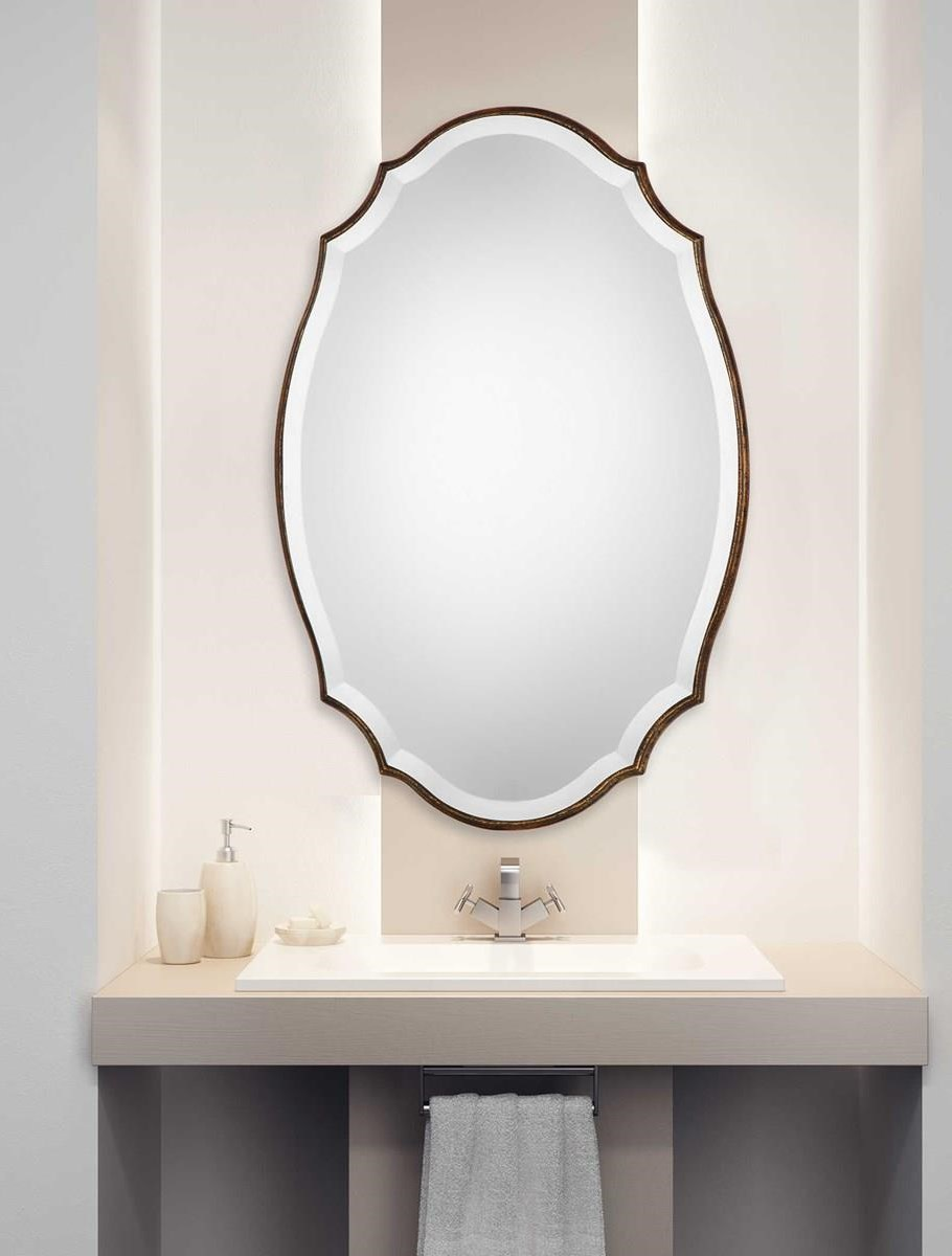 Mirrors - Oval AMELIA OVAL MIRROR by Unique at Walker's Furniture