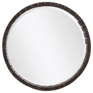 Islay Dark Oak Round Mirror