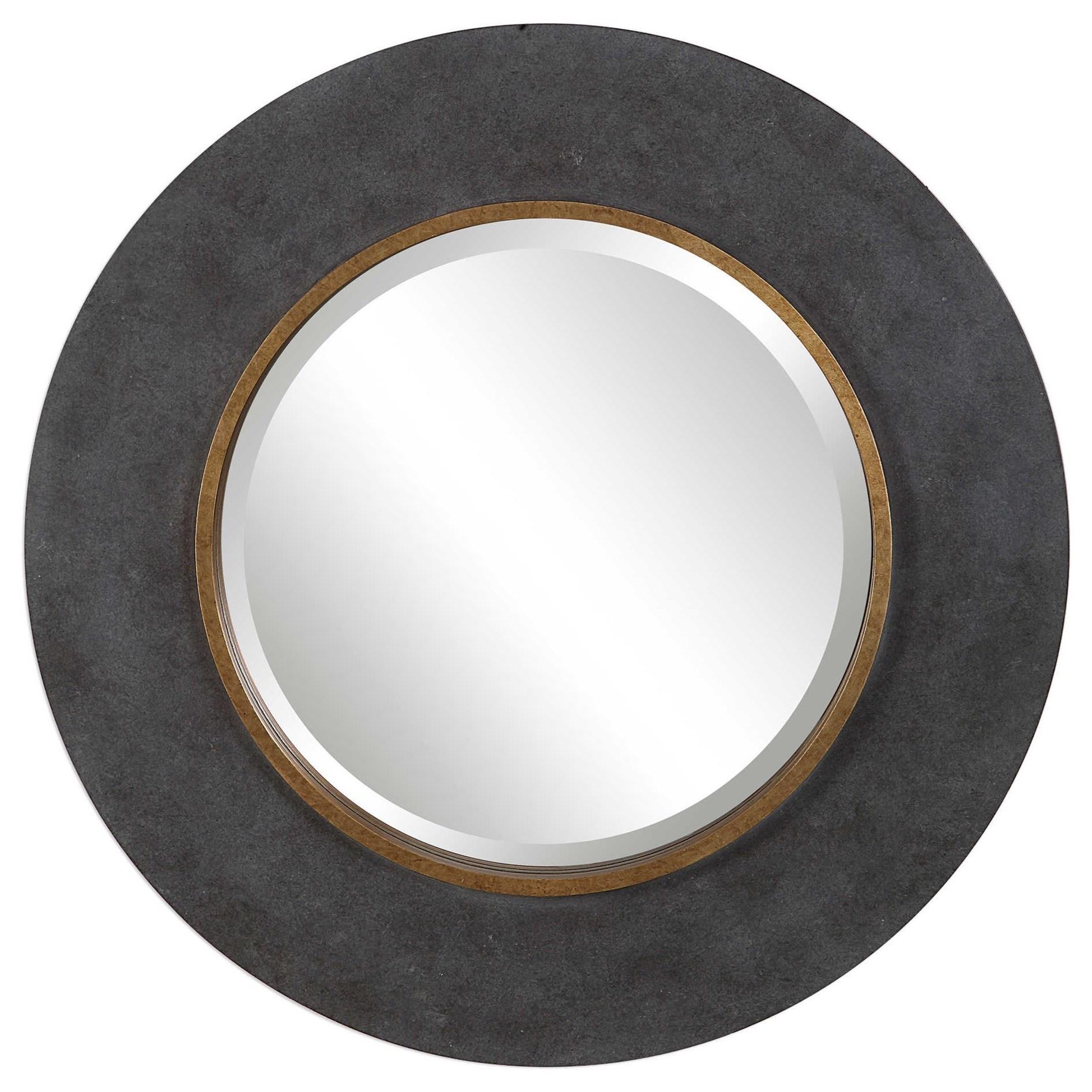 Mirrors - Round Saul Round Mirror by Uttermost at Miller Waldrop Furniture and Decor