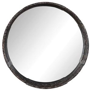 Genovia Industrial Round Mirror
