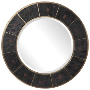 Kerensa Dark Wood Round Mirror